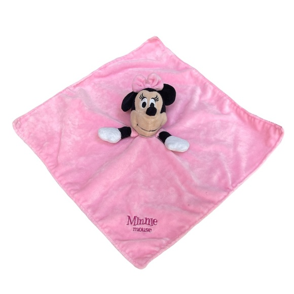 Disney Baby Minnie Mouse Plush/Satin Lovey Pink